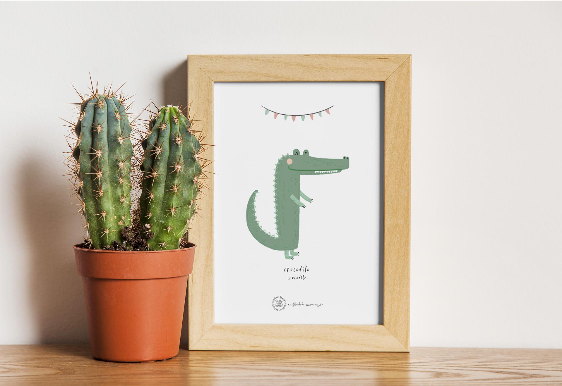 Art print . Crocodilo