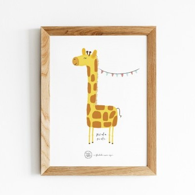 Art print . Girafa