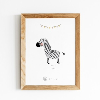 Art print . Zebra
