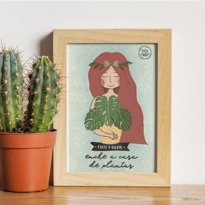 Art print . Enche a casa de plantas
