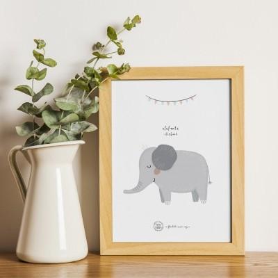 Art print . Elefante