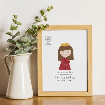 Art print . Princesinha