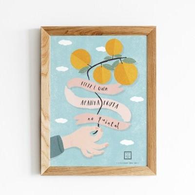 Art print . Apanha fruta