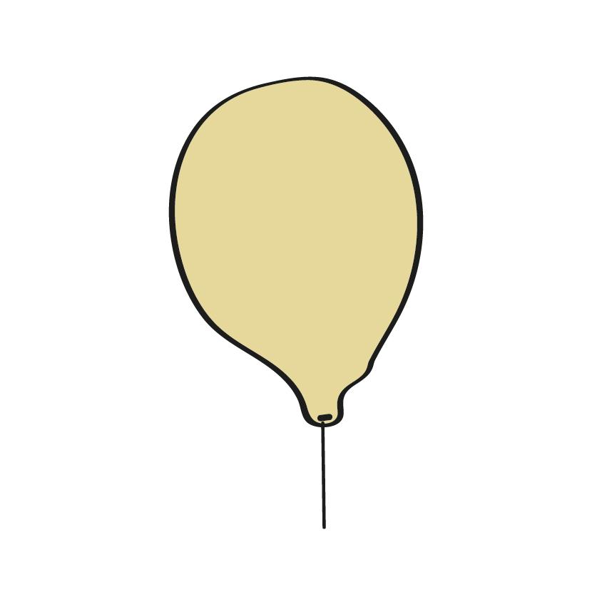 Balão amarelo pirata