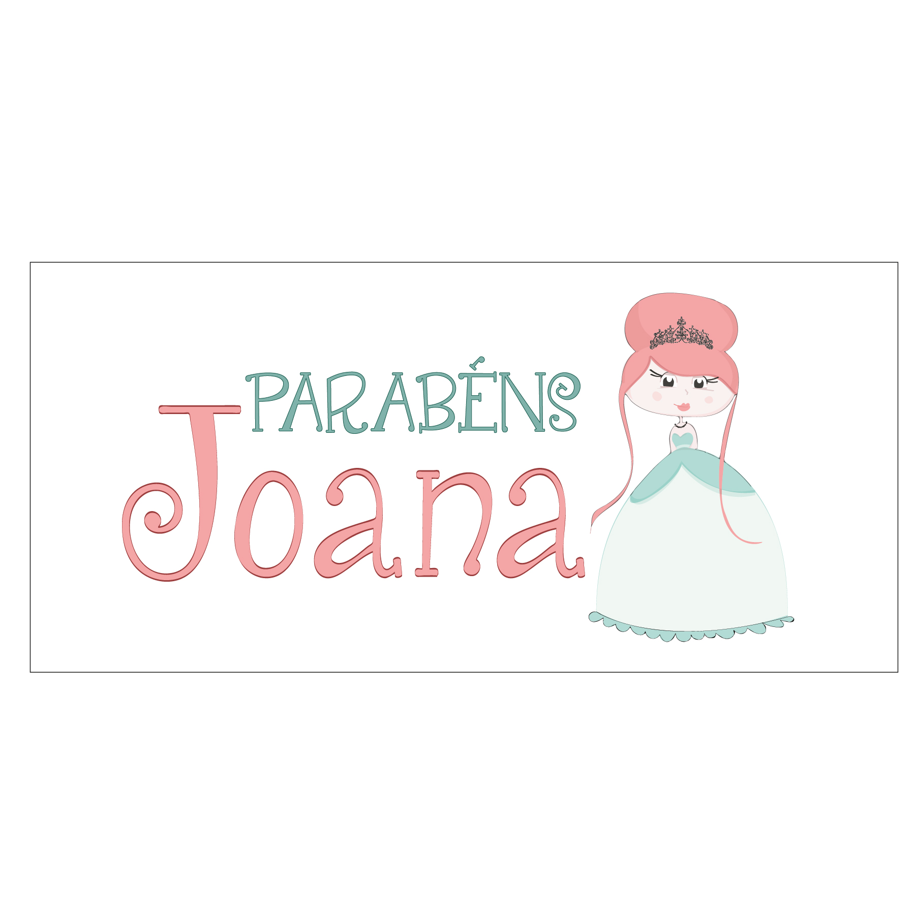 Tela personalizada princesa