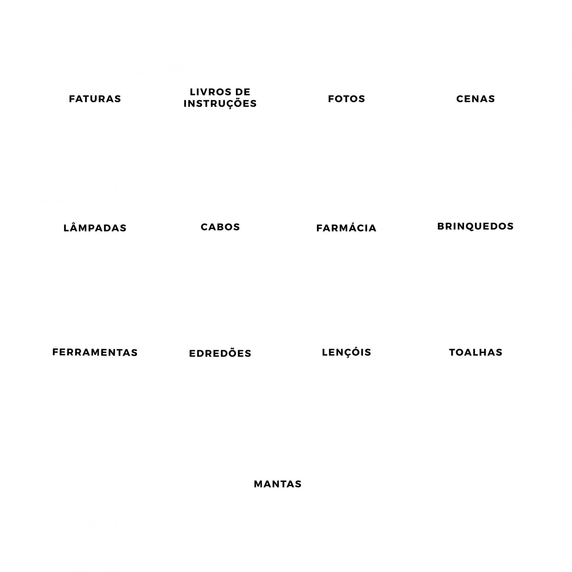 Kit de etiquetas de organização