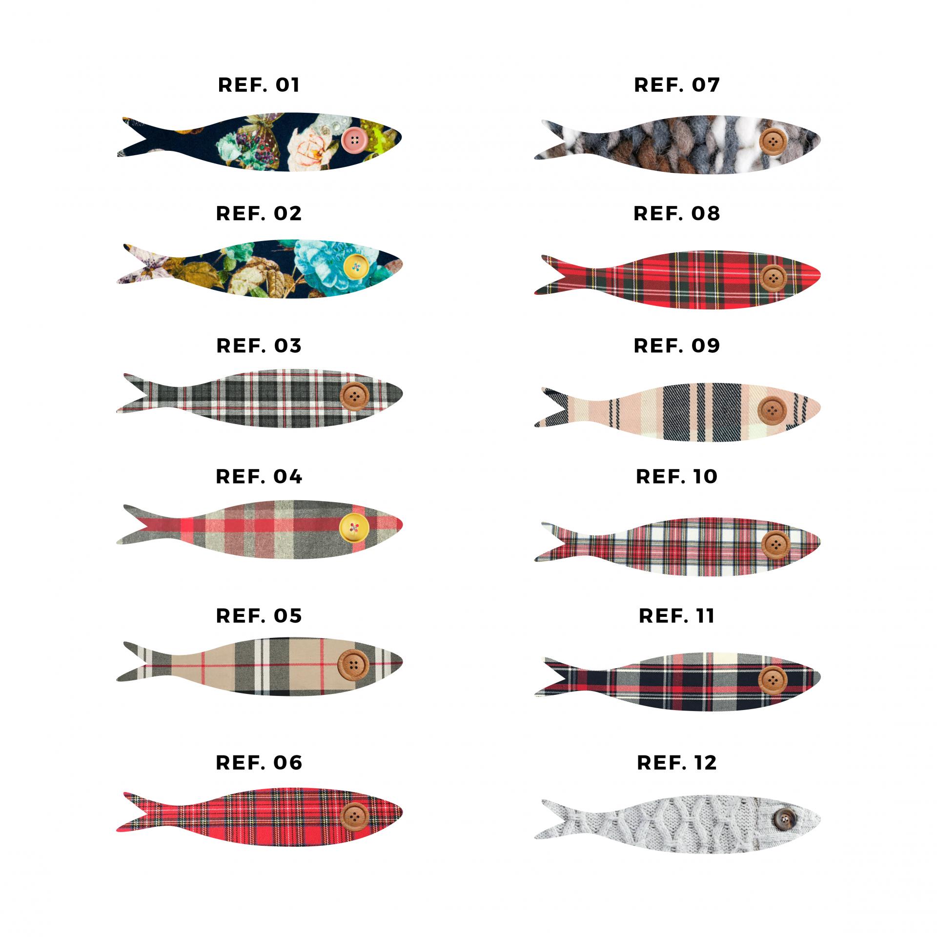 Conjunto de 52 sardinhas médias