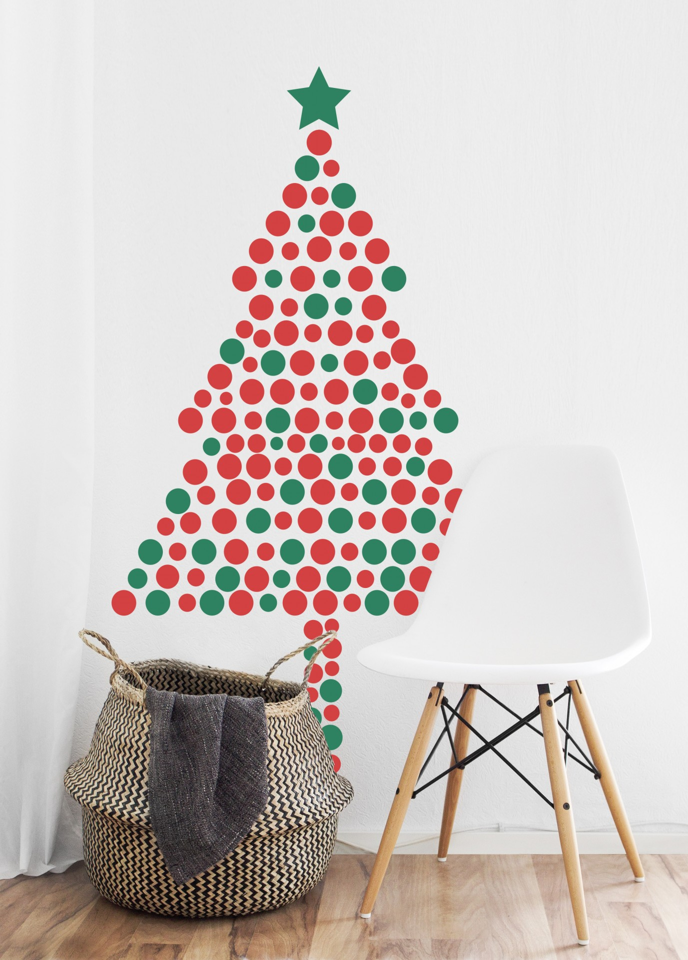 Árvore de Natal às bolas