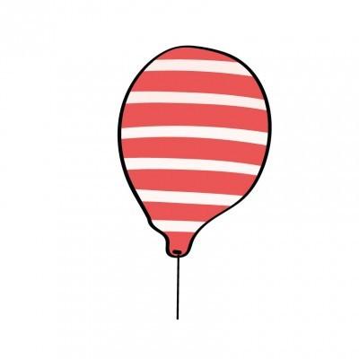 Balão riscas pirata