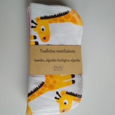 Toalhitas Reutilizáveis  - Bambu e algodão Biológio