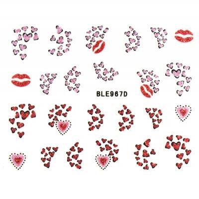 Autocolante - Lábios e Corações