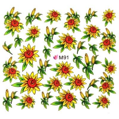 Decalque de Água - Flores Yellow
