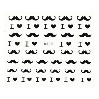 Decalque de Água - I Love Moustache