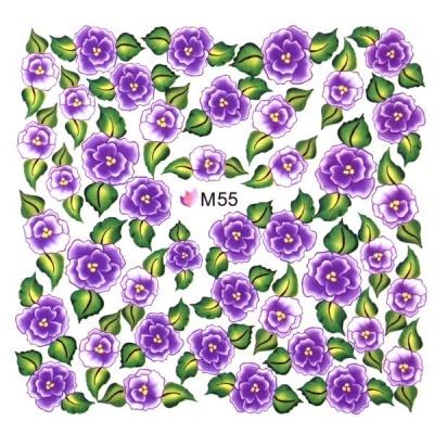 Decalque de Água - Flores Violeta