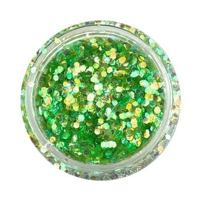 Mini Hex Glitter - Verde