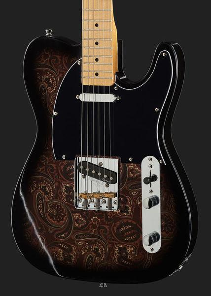 Harley Benton TE-70 Black Paisley