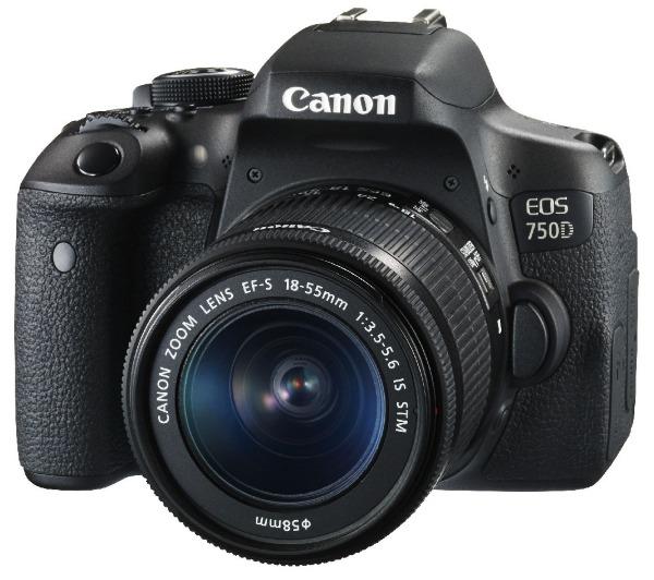 CANON EOS 750D NU - MÁQUINA FOTOGRÁFICA DIGITAL + OBJETIVA 18-55 IS STM