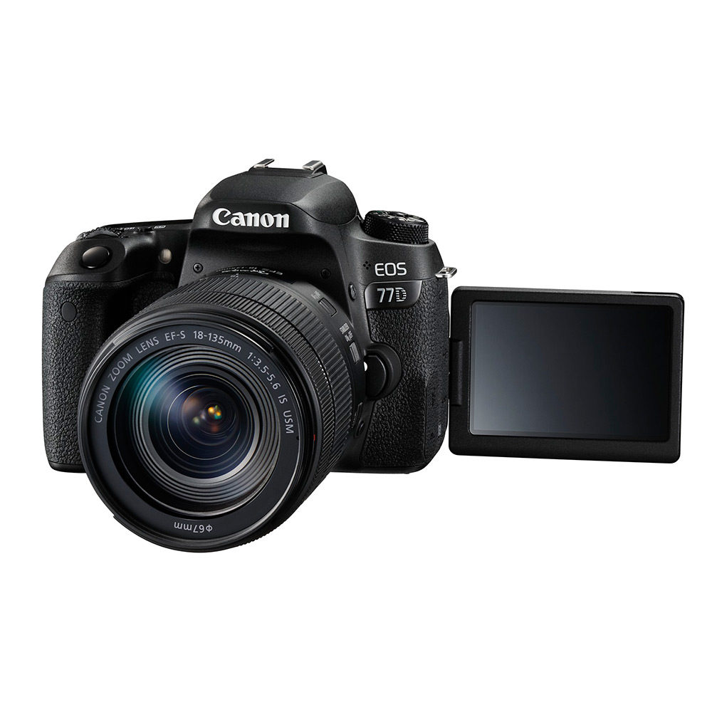 Canon EOS 77D DSLR + 18-135mm IS USM