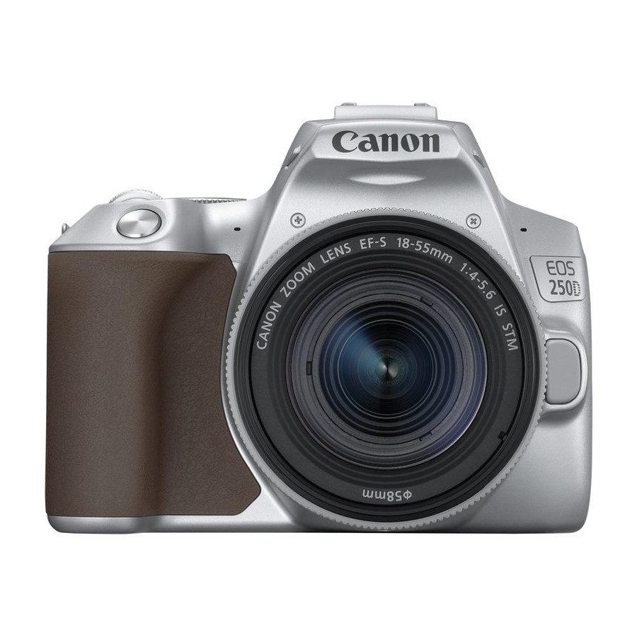 Canon EOS 250D DSLR Prata + 18-55 IS STM