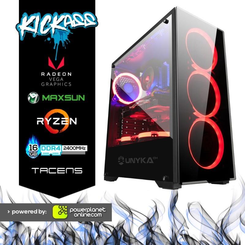 Computador Desktop Gaming Ryzen 5 3400G/16GB/120GB SSD KickAss