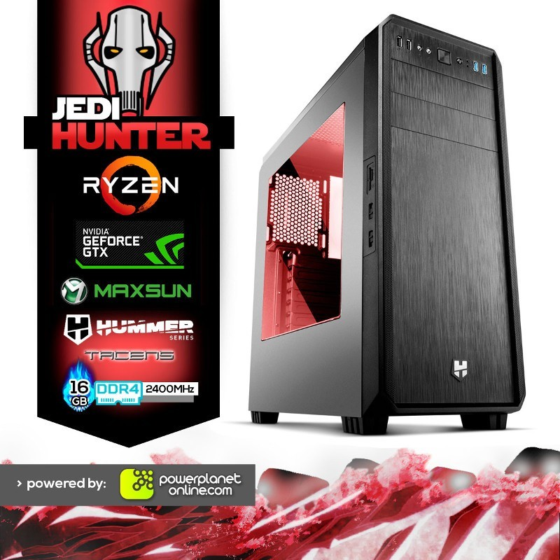 PC Gaming Ryzen 5 3400G/16GB/120SSD/GTX1650 4GB/Jedi Hunter