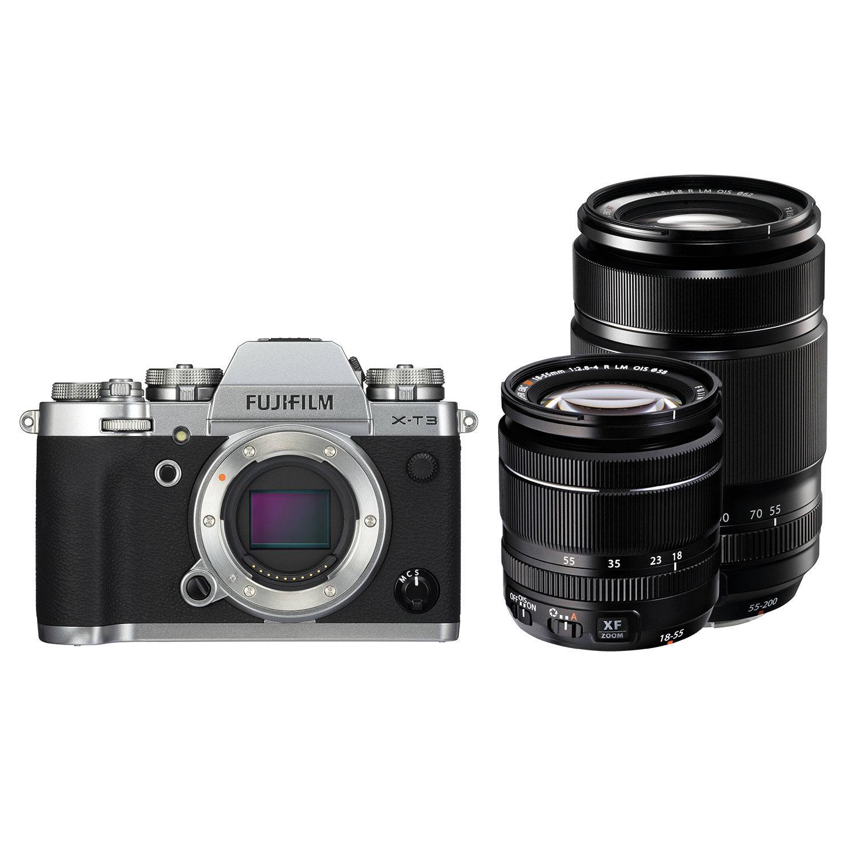 Fujifilm X-T3 Preta + XF 18-55mm + XF 55-200mm