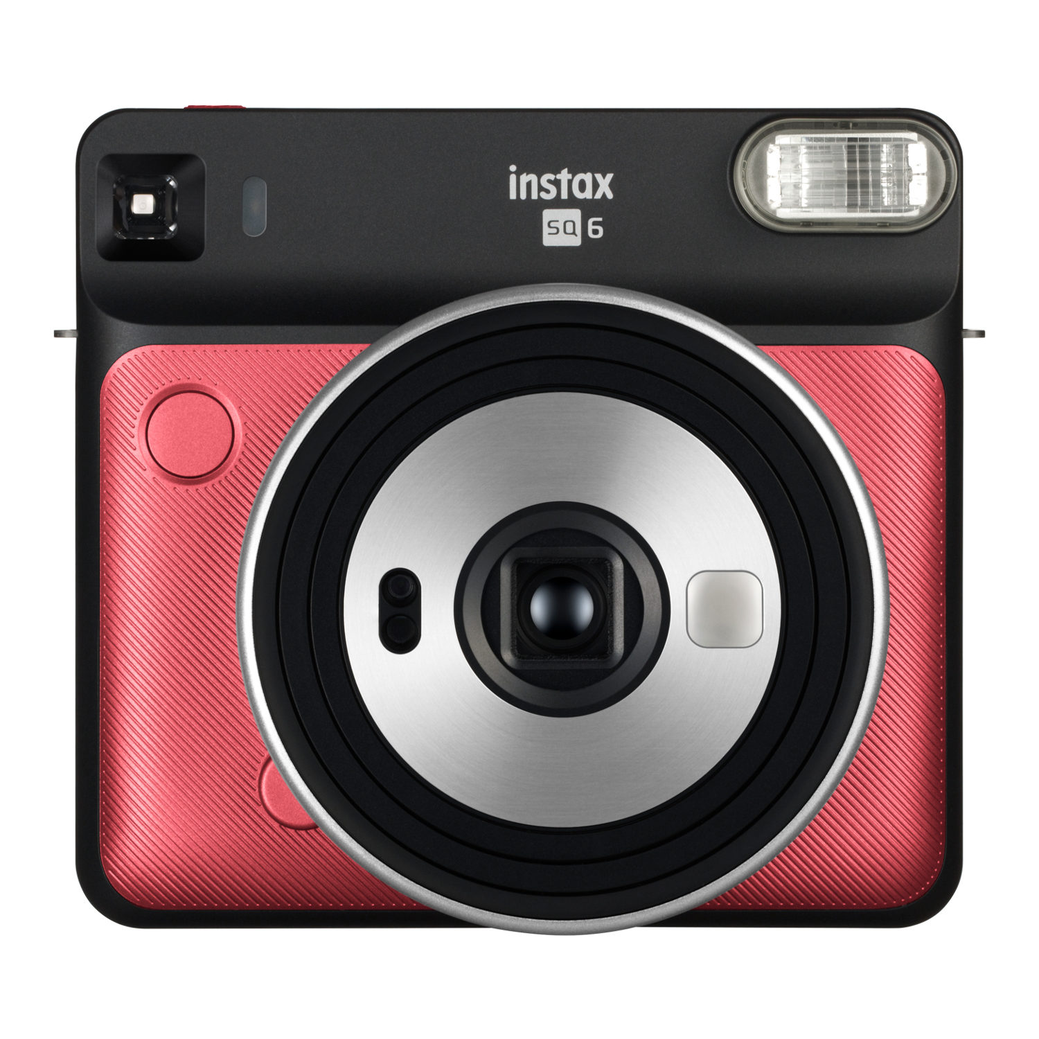 Fujifilm Instax Square SQ6 instant camera Ruby Red + Fujifilm Instax Square Film (2-Pak) + Jupio CR2 3V Lithium batterij + Fujifilm Instax SQ6 Case Graphite Gray