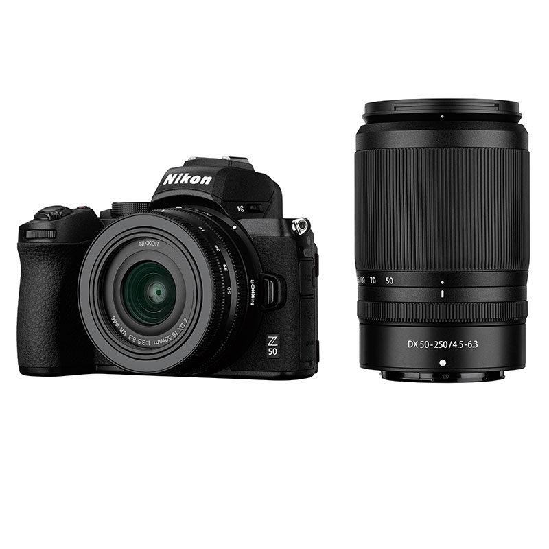 Nikon Z50 + 16-50mm f / 3.5-6.3 VR + 50-250mm f / 4.5-6.3 VR
