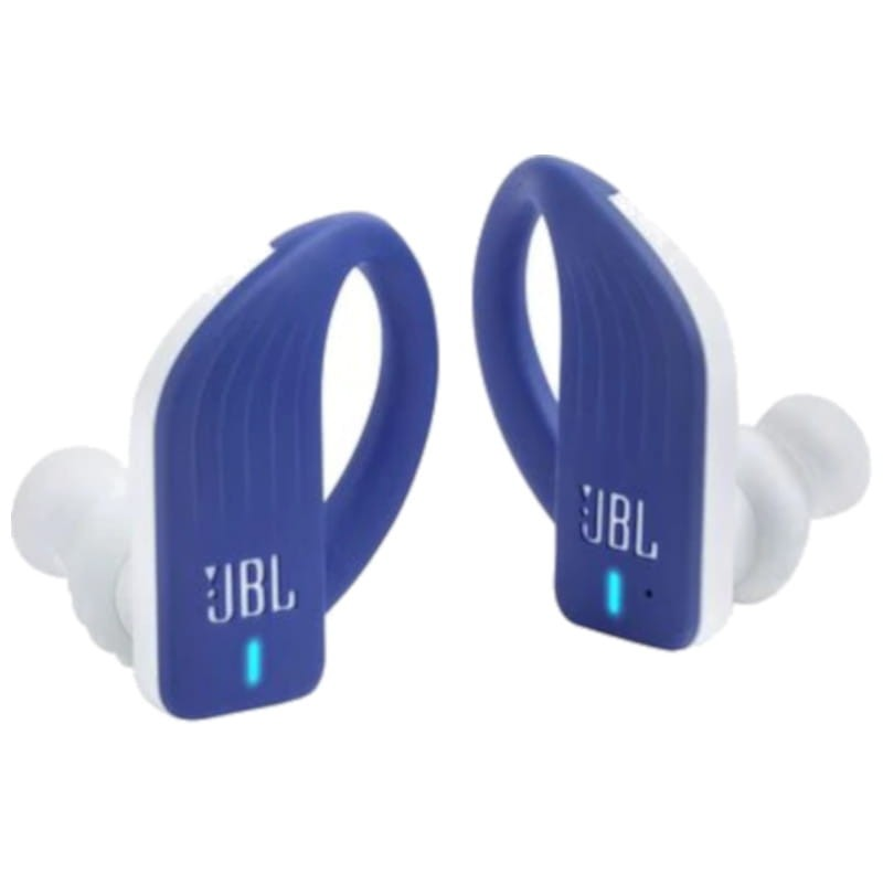 JBL Endurance Peak TWS PowerHook Azul - Auriculares Bluetooth