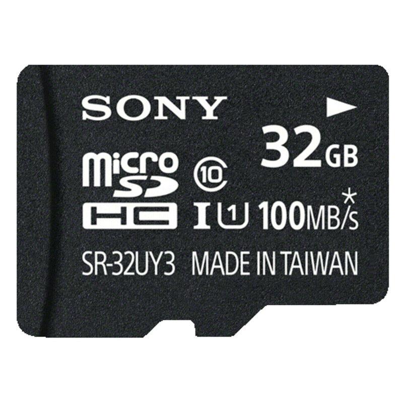 Sony Cartão de memória Micro SDHC UHS-I U1 Classe 10 de 32 GB + adaptador