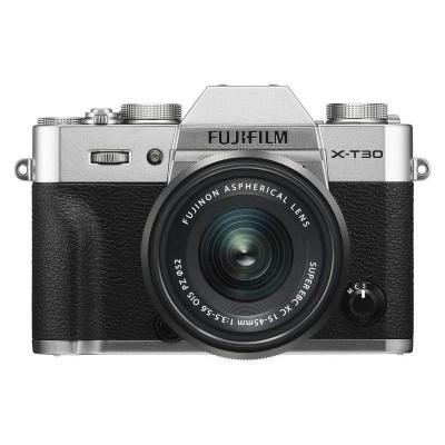 Câmera do sistema Fujifilm X-T30 Silver + XC Lente 15-45mm f / 3.5-5.6 OIS PZ Preto