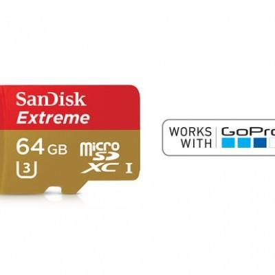SanDisk 64GB Micro SDXC Extreme U3 V30 A1 + adaptador