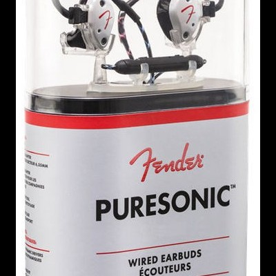 Fender PureSonic Wired Earbuds Pearl