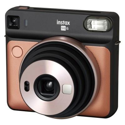 Fujifilm Instax Square SQ6 instant camera Blush Gold + Fujifilm Instax Square Film (2-Pak) + Jupio CR2 3V Lithium batterij + Fujifilm Instax SQ6 Case Graphite Gray