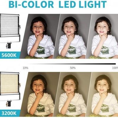 Luz de vídeo LED bicolor regulável SocialLite 480 Leds 3200K-5600K CRI 96 - KIT
