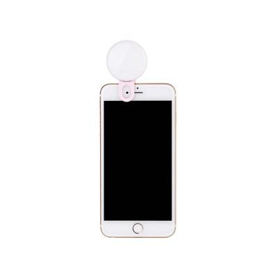 JJC SRL-20 anel de selfie rosa luz