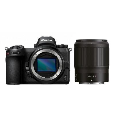 Nikon Z6 systeemcamera + 35mm f/1.8 + FTZ adapter