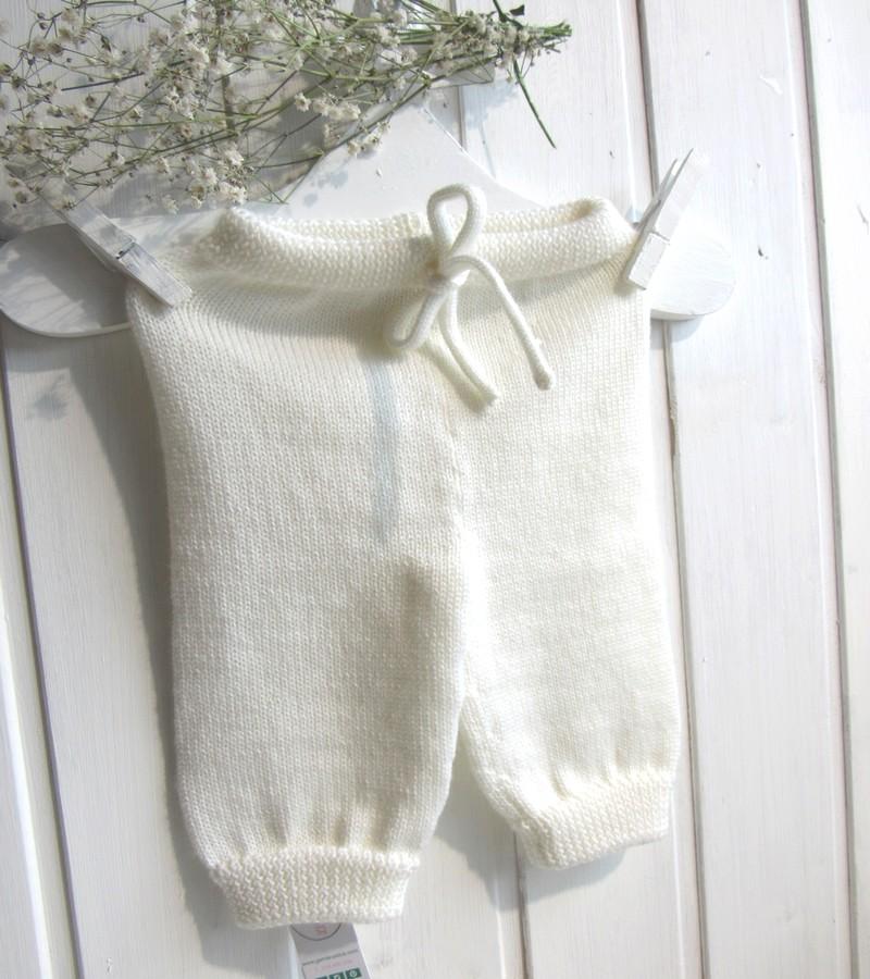 Calça lã beje