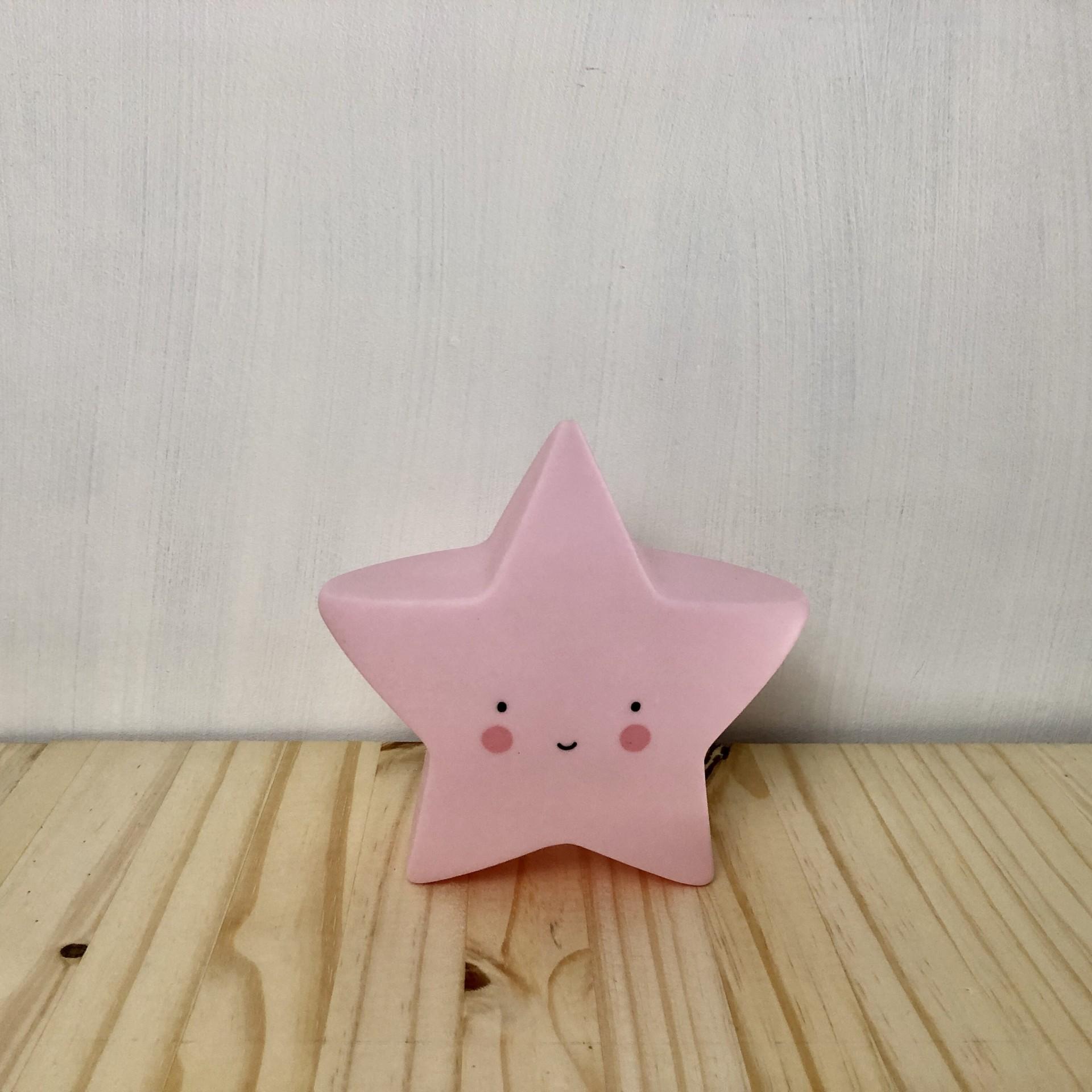 Luz estrela rosa