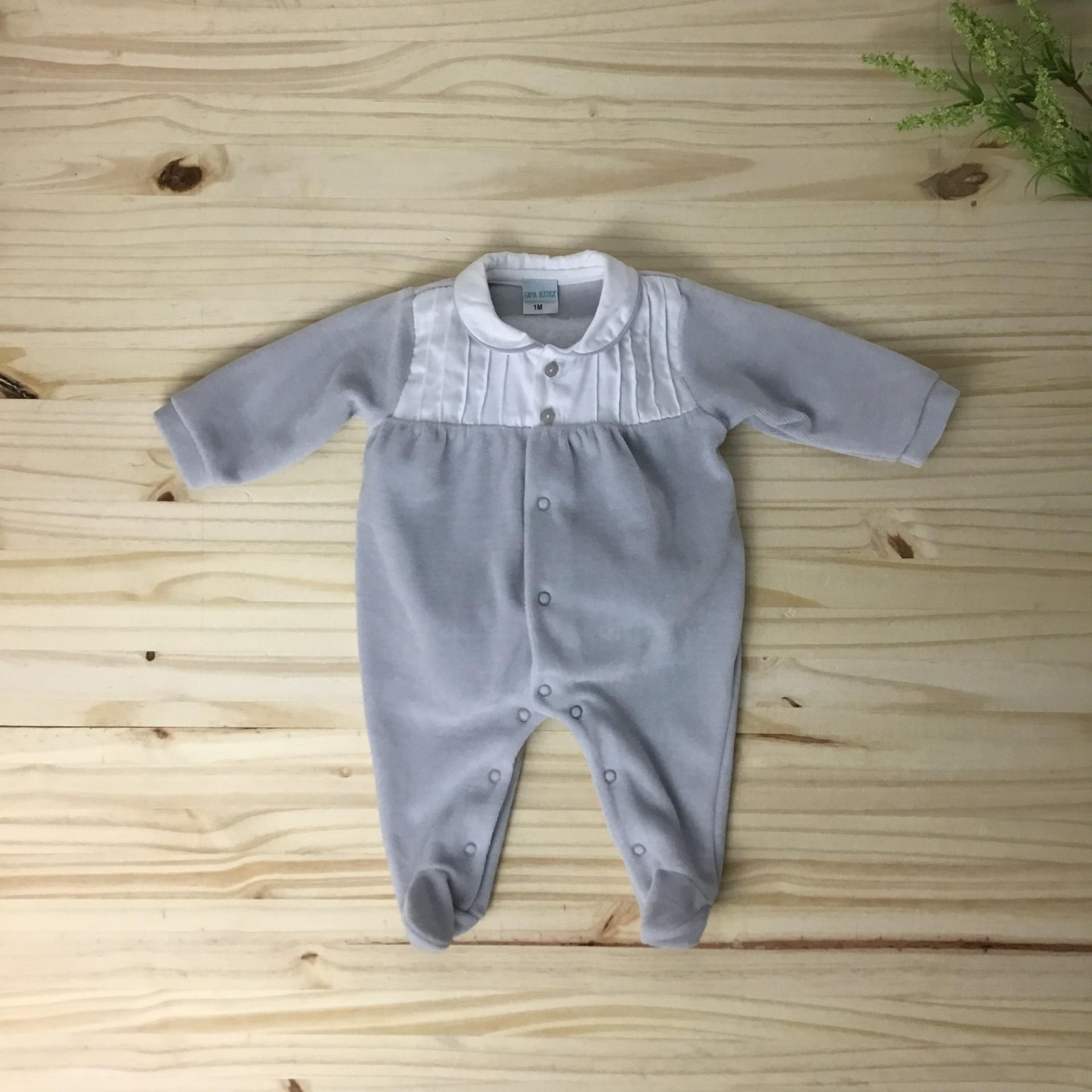 Babygrow cinza pregas