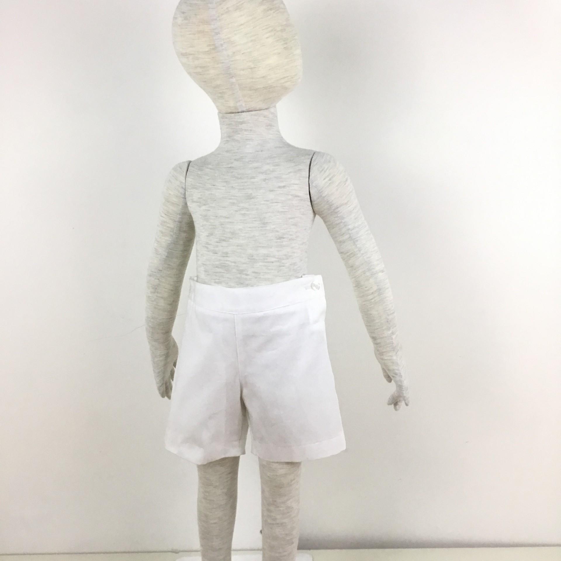 Calções algodão branco