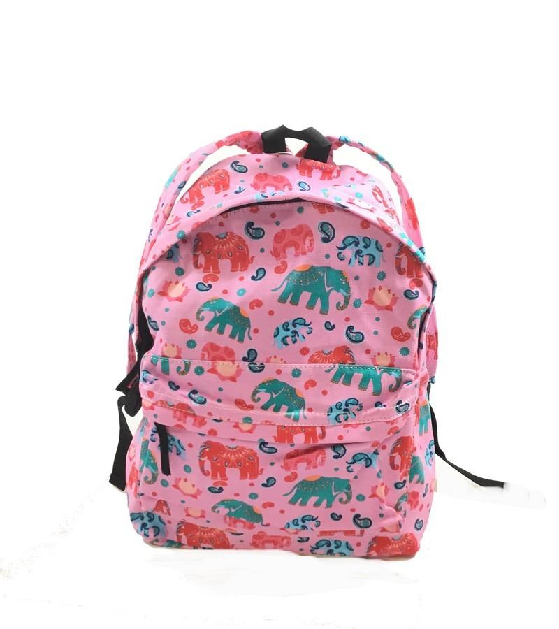Mochila elefantes rosa