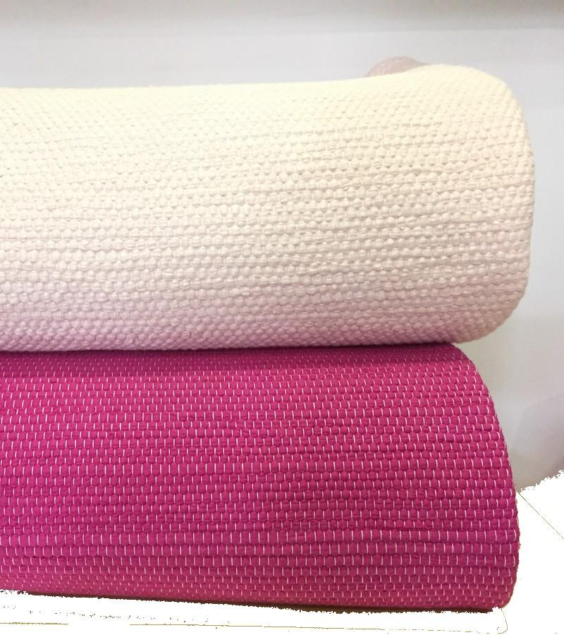 Tapete de algodão rosa