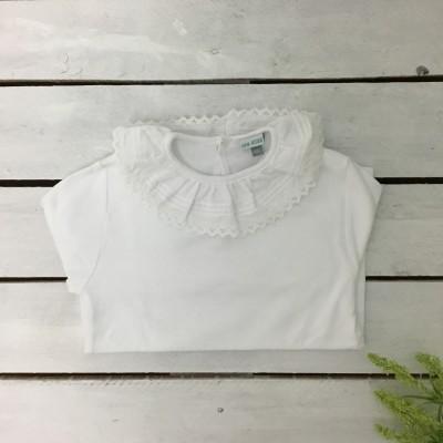 Camisola folho renda branca