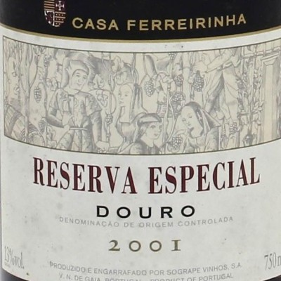 RESERVA ESPECIAL TINTO 2001