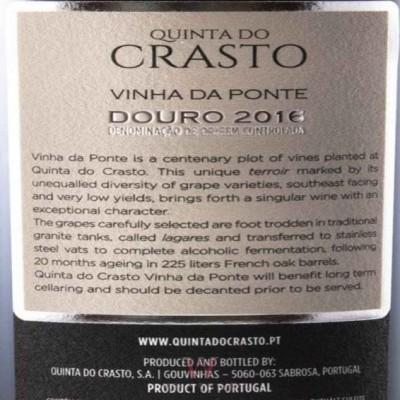 QUINTA DO CRASTO VINHA DA PONTE TINTO 2016