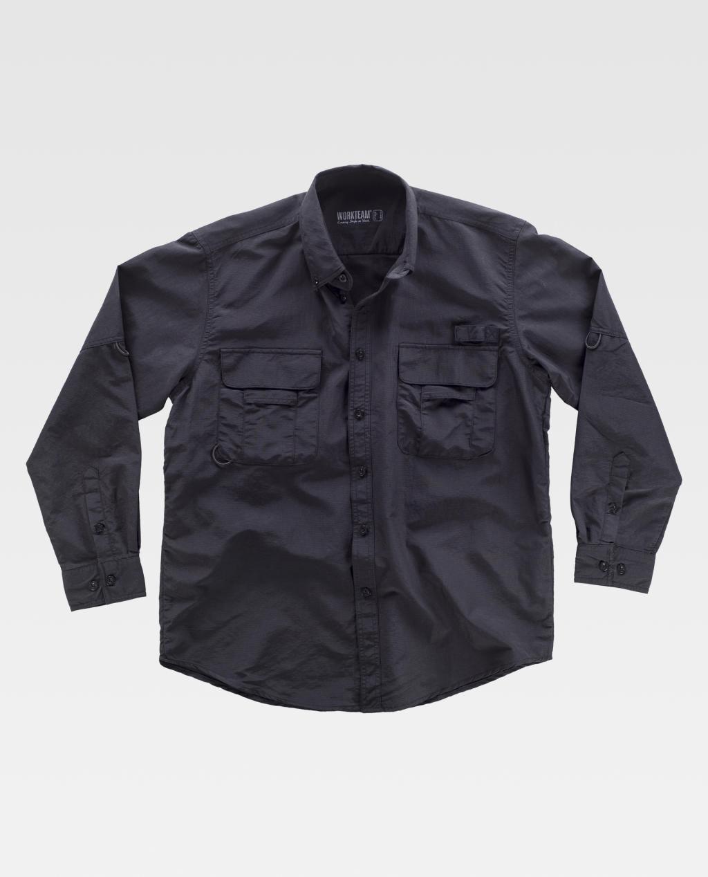 Camisa W/T Safari Multi Bolsos