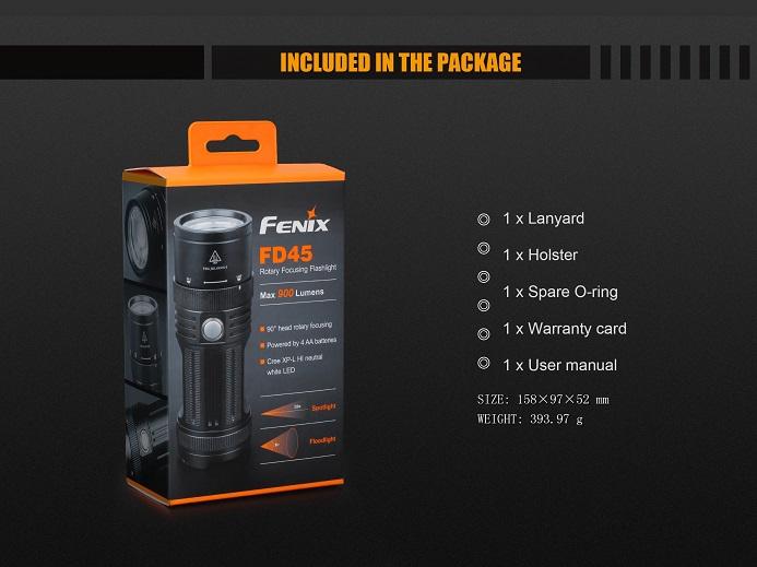 Lanterna Fénix FD45