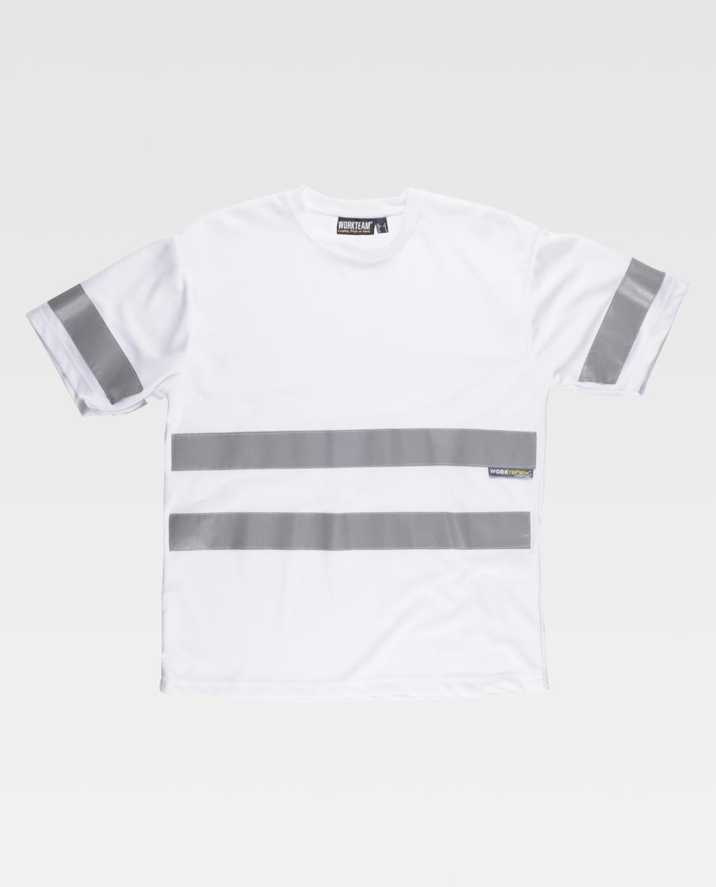 T-Shirt W/T Alta Visibilidade c/faixas refetoras