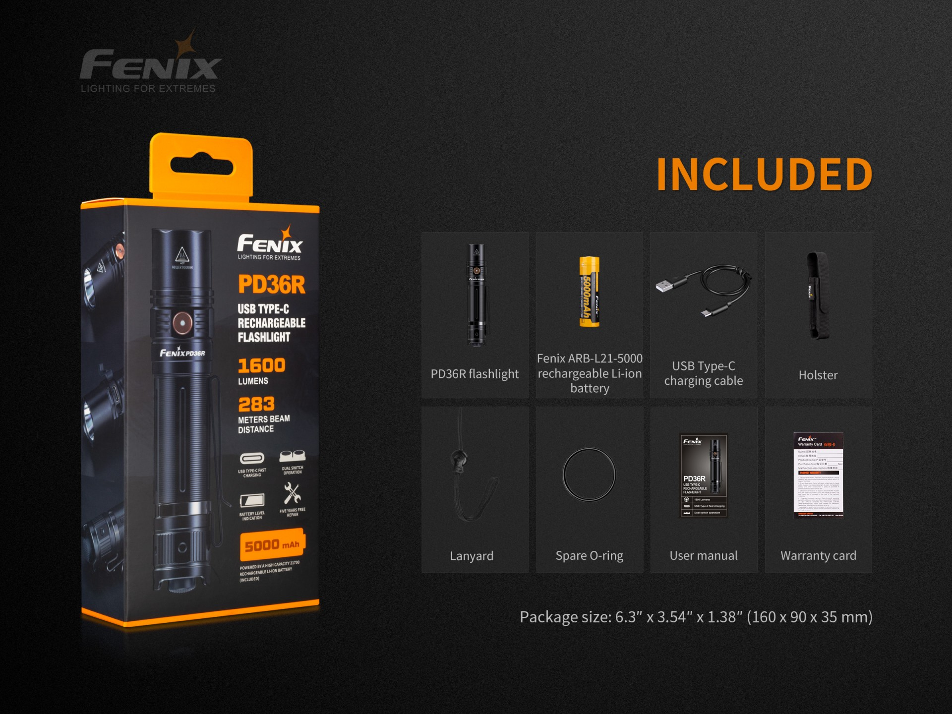 Lanterna Fénix PD36R